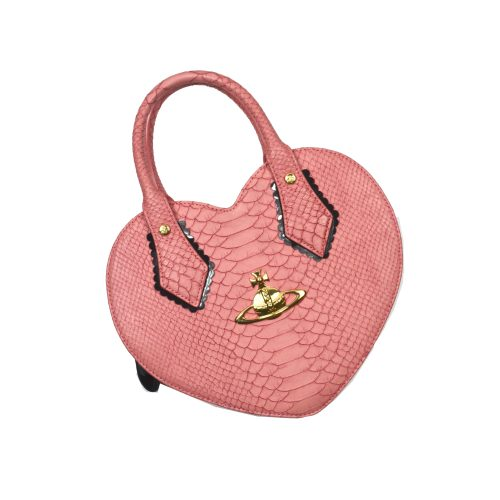 Vivienne Westwood Chancery Heart Bag Baby Pink Snakeskin