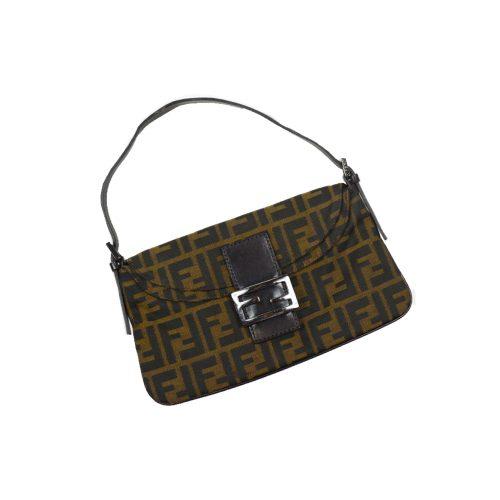 Fendi Zucca Monogram Baguette Bag