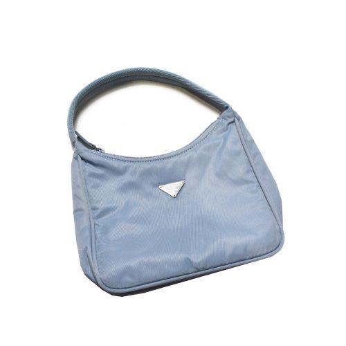 Prada Nylon Hobo in Baby Blue