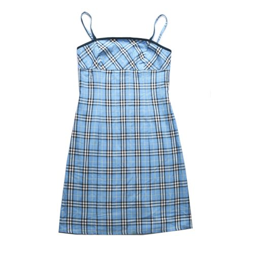 Burberry Nova Check Mini Dress in Baby Blue