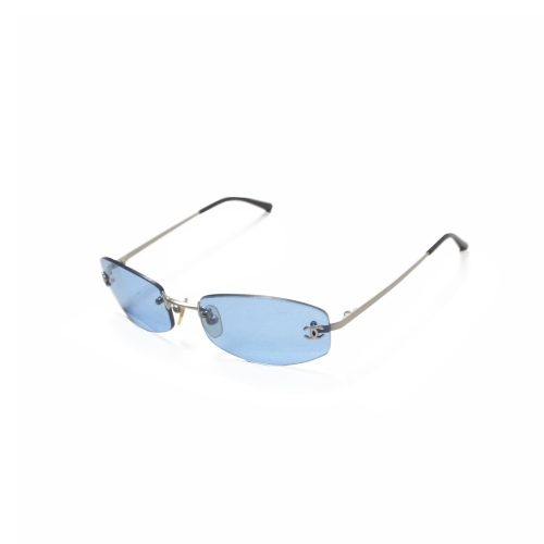 Chanel Rimless Sunglasses in Baby Blue