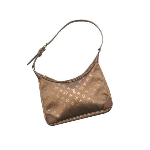 Louis Vuitton Mini Boulogne in Brown Satin