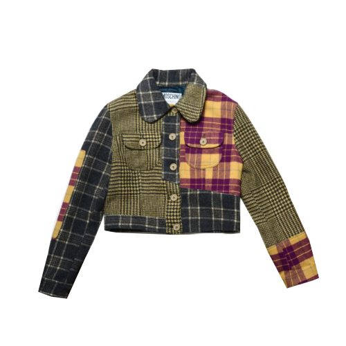 Moschino Patchwork Cropped Jacket