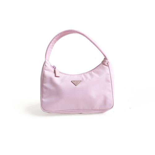 Prada MV515 Vintage Nylon Hobo Bag in Baby Pink | NITRYL