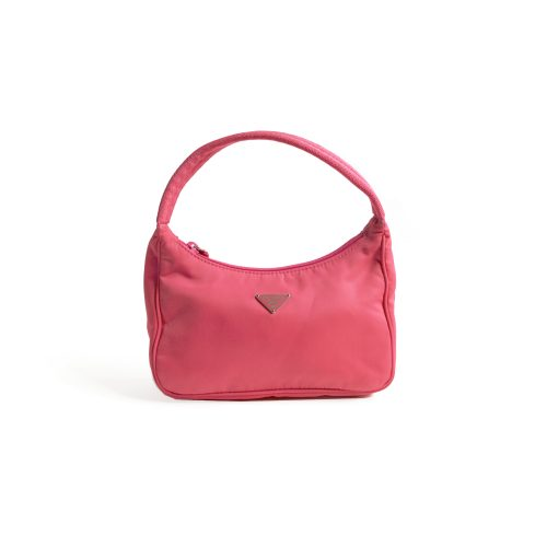 Prada MV515 Vintage Nylon Hobo Bag in Pink | NITRYL