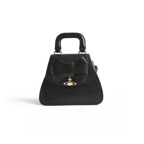 Vivienne Westwood Small Bow Bag in Black | NITRYL