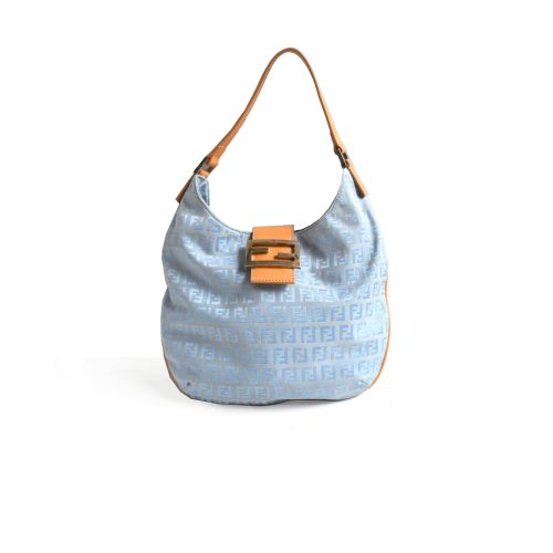 Fendi Zucchino Hobo Bag in Baby Blue | NITRYL