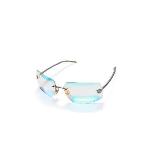 Rare Chanel Iridescent Rimless Sunglasses | NITRYL