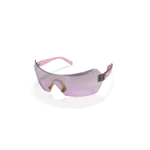 Vintage Chanel Shield Visor Sunglasses in Pink | NITRYL