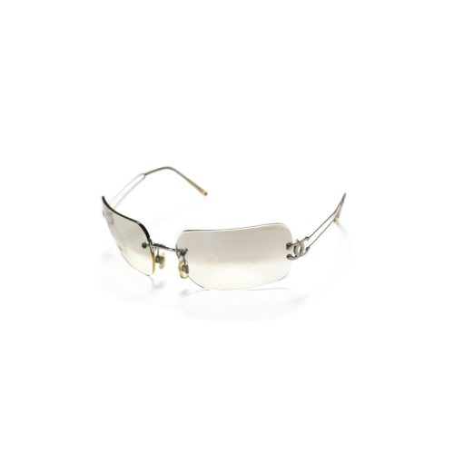 Vintage Chanel Ombre Chrome Rimless Sunglasses | NITRYL
