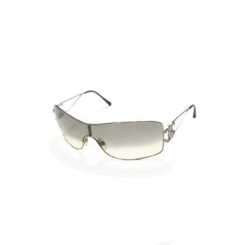 Vintage Chanel Ombre Diamante Visor Sunglasses in silver | NITRYL