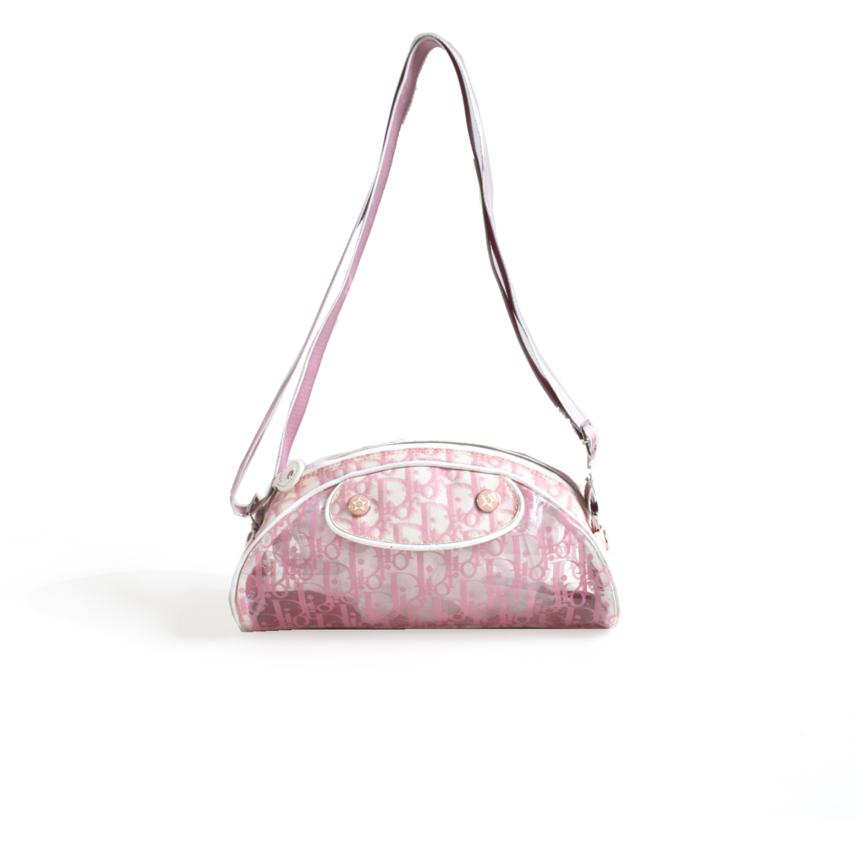 Dior PVC Monogram Crossbody/Shoulder Bag in Baby Pink | NITRYL