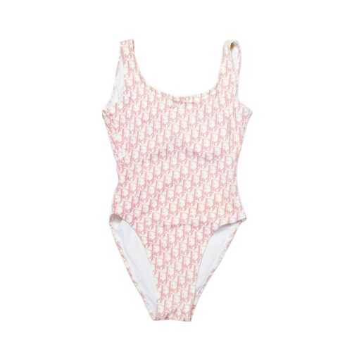 Vintage Dior Trotter Monogram Swimsuit in Pink Size S | NITRYL