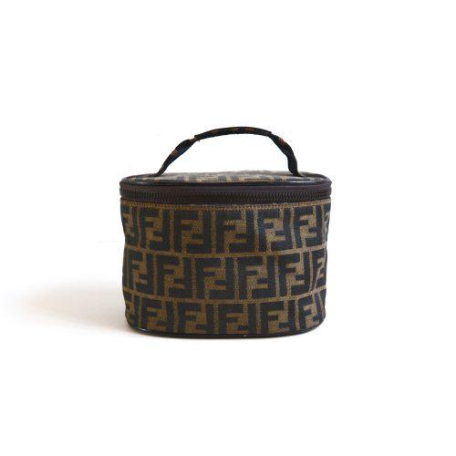 Vintage Fendi Zucca Vanity Case Bag | NITRYL
