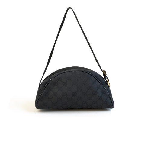 Vintage Gucci Monogram Pochette Bag in Black | NITRYL