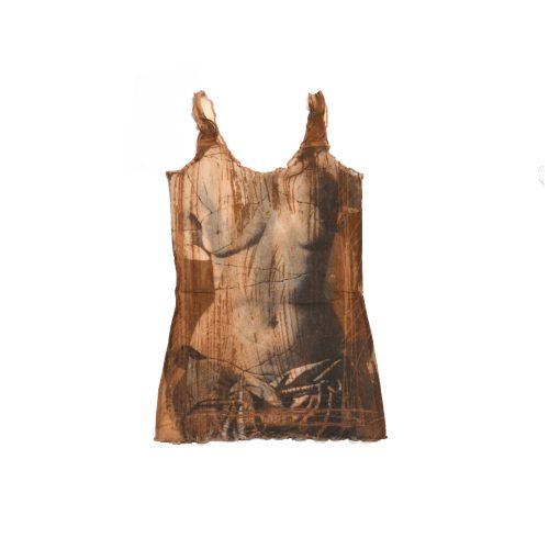 Jean Paul Gaultier 90s Broken Status Mesh Tank Vest Top | NITRYL
