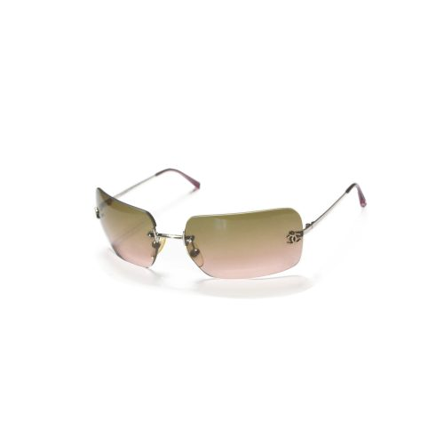 Vintage Chanel Pink Tinted Rimless Sunglasses | NITRYL