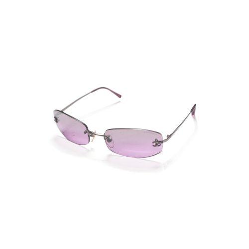 Vintage Chanel Purple Tinted Rimless Sunglasses | NITRYL
