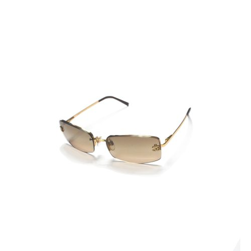 Vintage Chanel Rimless Tinted Sunglasses in Brown | NITRYL