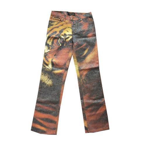 Vintage Roberto Cavalli FW00 Tiger Jeans Size 10   NITRYL