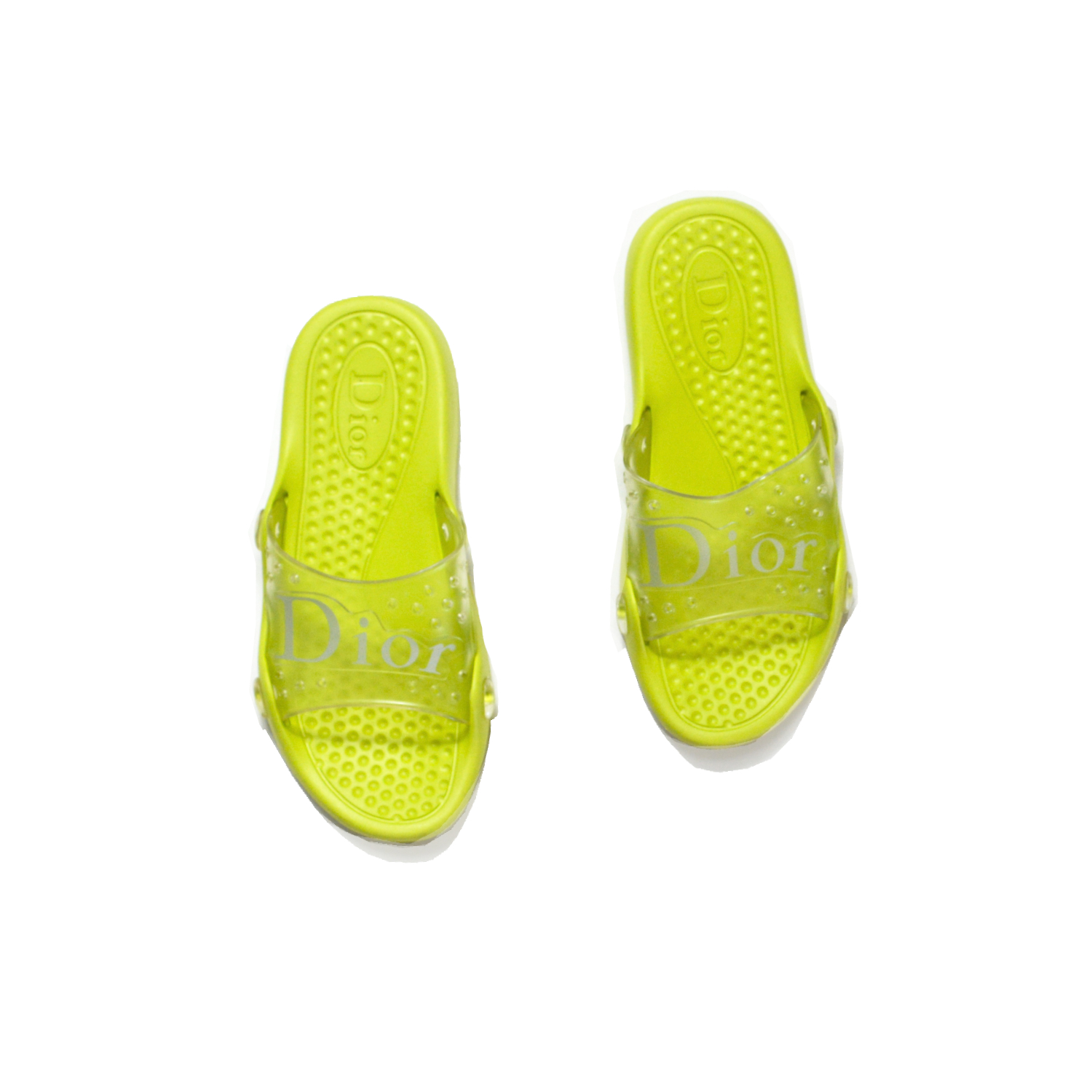 Dior Sliders in Lime Green Size 6.5 | NITRYL