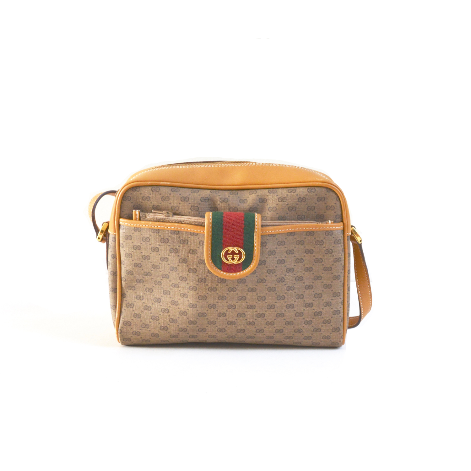 Gucci 1980s Mini GG Monogram Crossbody Bag | NITRYL