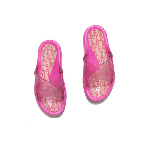 Vintage Dior Sliders in Pink Size 6 | NITRYL