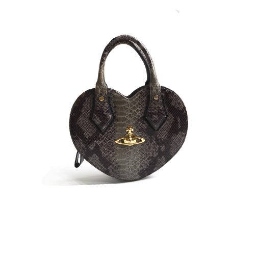 Vivienne Westwood Frilly Chancery Heart Bag in Snakeskin | NITRYL