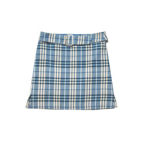 Vintage Blue Label Nova Check Mini Skirt in Blue   NITRYL