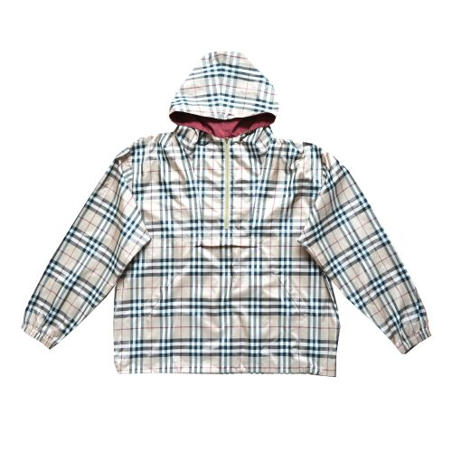 Vintage Burberry Pull Over 1/2 Zip Nova Check Windbreaker Size XL | NITRYL