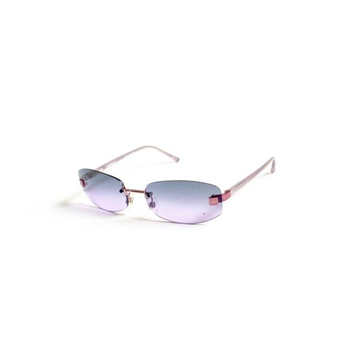 Vintage Chanel Tinted Rimless Sunglasses in Purple | NITRYL