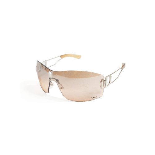 Vintage Dior Visor Shield Rimless Sunglasses in Blush | NITRYL