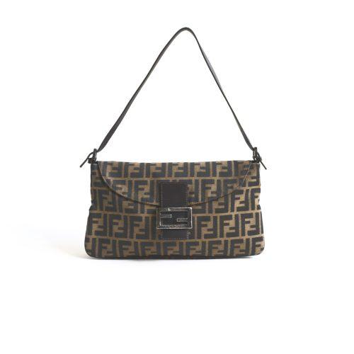 Vintage Fendi Zucca Flap Baguette Bag | NITRYL