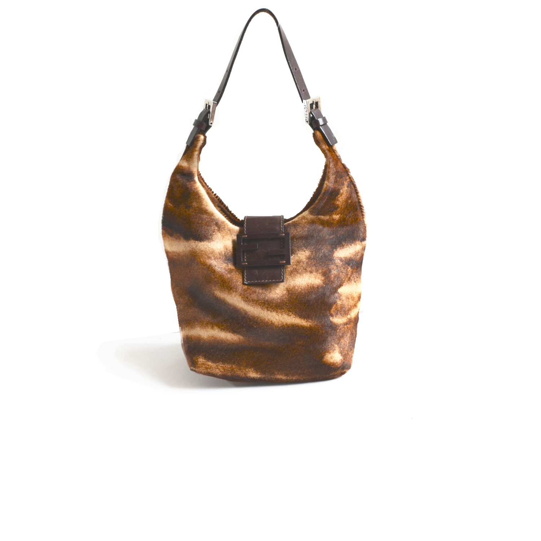 Vintage Fendi Pony-Style Calfskin Shoulder Bag   NITRYL