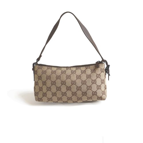 Gucci Monogram Pochette Bag in Beige Mini Bag | NITRYL