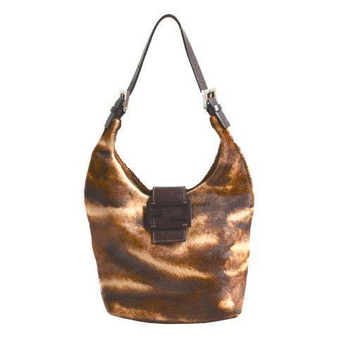 Vintage Fendi Pony-Style Calfskin Shoulder Bag | NITRYL