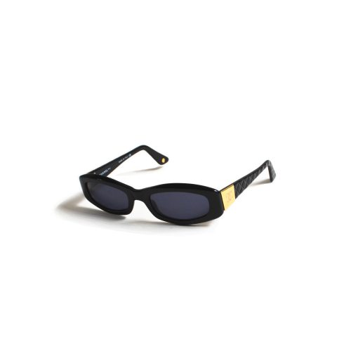 Vintage Chanel Chunky Sunglasses in Black and Gold | NITRYL