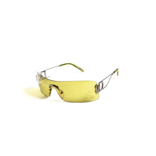 Vintage Dior Visor Shield Rimless Sunglasses in Green | NITRYL