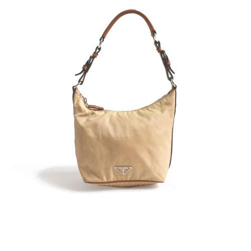 Vintage Prada Nylon Minibag in Beige | NITRYL
