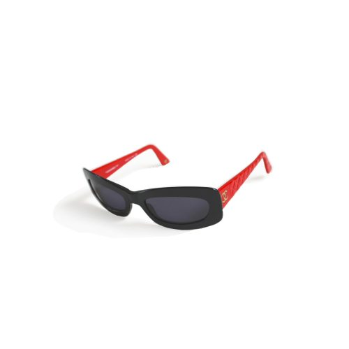 Vintage Chanel Chunky Sunglasses in Black and Red | NITRYL