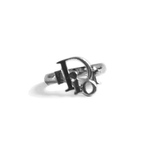 Vintage Dior Logo Ring in Silver   NITRYL