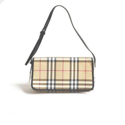 Vintage Burberry Nova Check Baguette Shoulder Bag   NITRYL