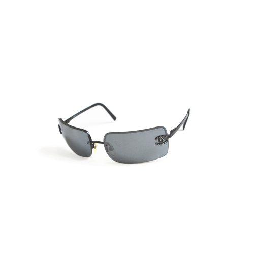 Vintage Chanel Diamante Rimless Ombre Sunglasses in Black | NITRYL