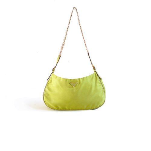 Rare Prada Satin Mini Shoulder Bag in Green | NITRYL