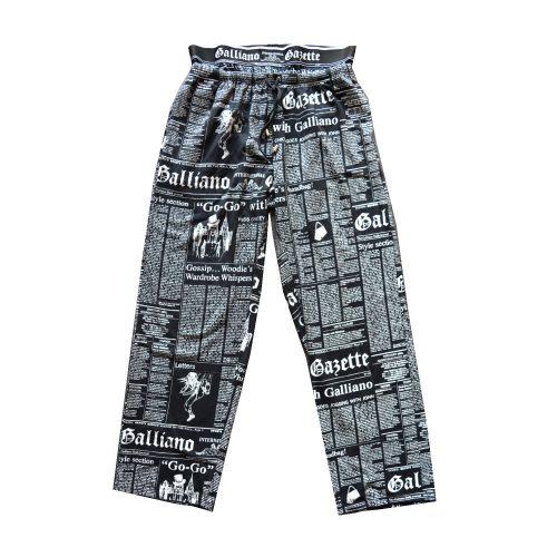 John Galliano Newspaper Print Lounge Trousers Size M | NITRYL