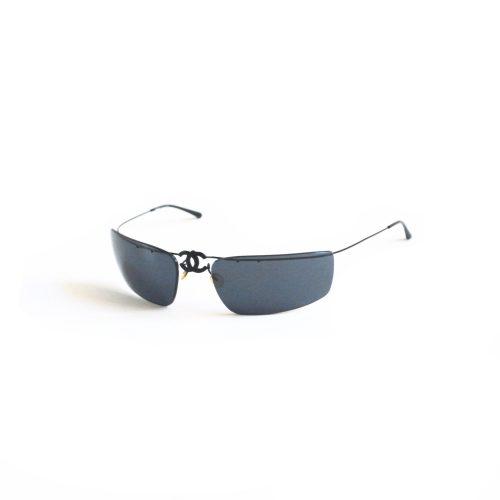 Vintage Chanel Rimless Folding Sunglasses in Black | NITRYL