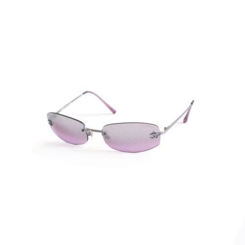 Vintage Chanel Tinted Rimless Mirrored Sunglasses in Purple | NITRYL