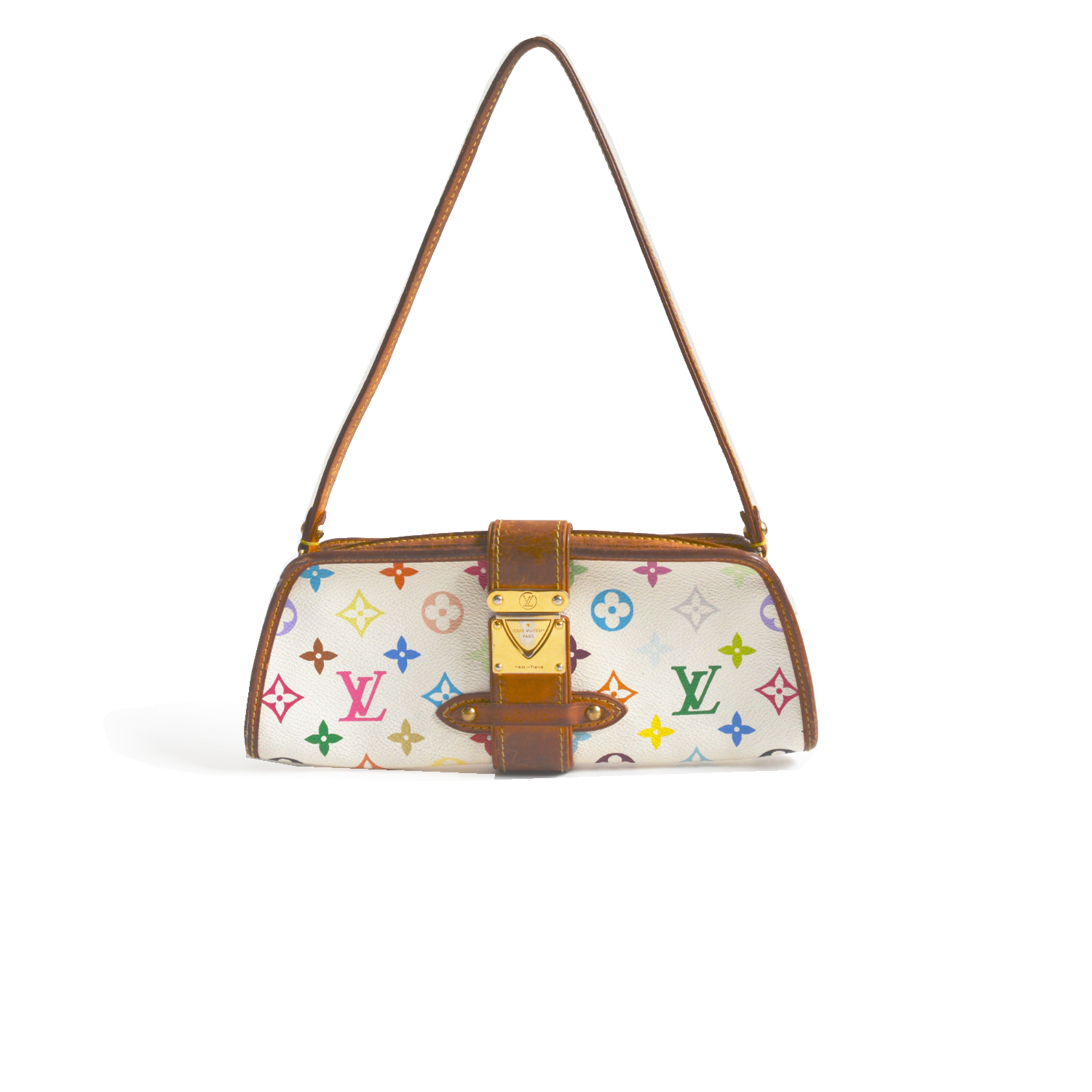 Vintage Louis Vuitton Shirley Shoulder Bag in Multicolour White | NITRYL