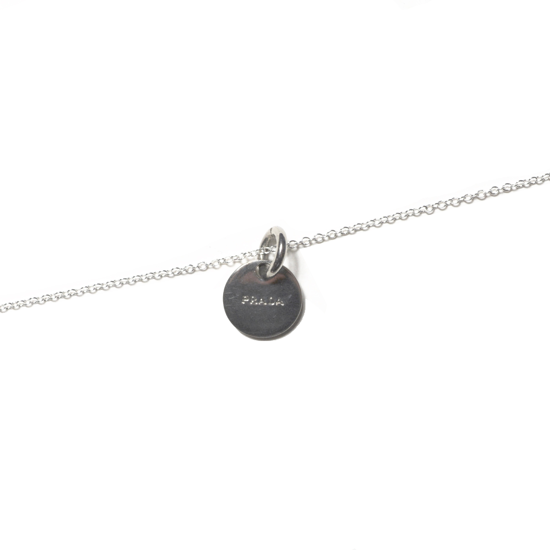 Vintage Reworked Prada Logo Necklace in Silver | NITRYL