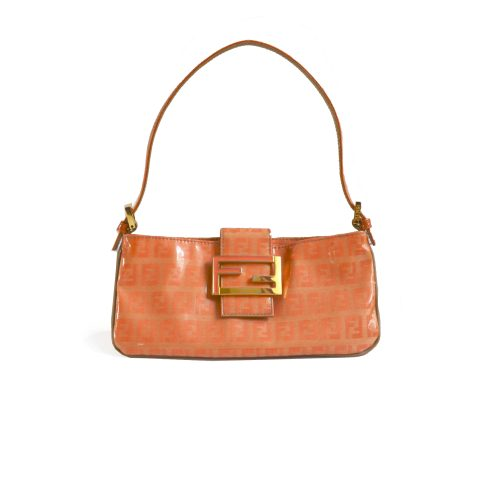 Vintage Fendi Zucchino PVC Mini Baguette Bag in Orange | NITRYL